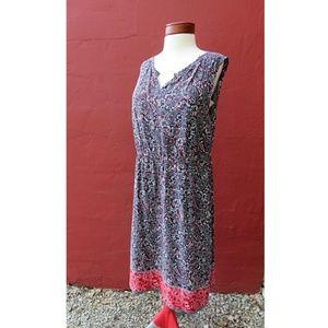 Talbots Bandana 4th of July Pocket Dress Plus